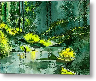 Tranquil 1 Metal Print by Anil Nene