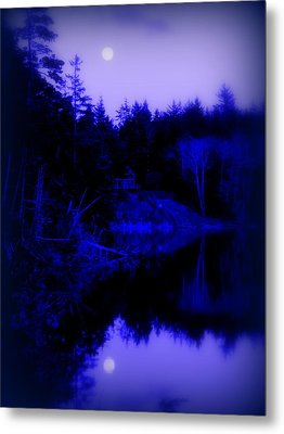 Tranquil Blue Moons Metal Print by Cindy Wright