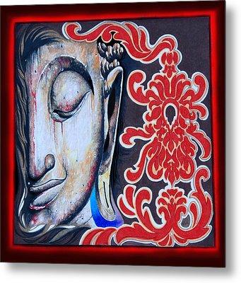 Tranquility Buddha Metal Print by Litos