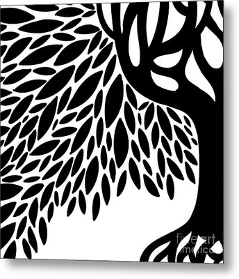Tree Graphic Metal Print by HD Connelly