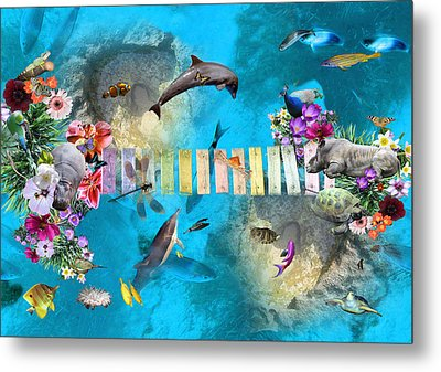 Tropical Metal Print by Emily Campbell