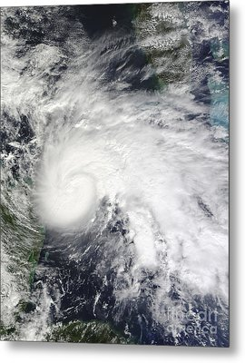Tropical Storm Ida In The Caribbean Sea Metal Print by Stocktrek Images