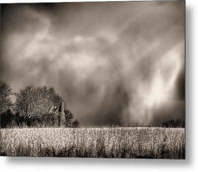 Trouble Brewing Bw Metal Print by JC Findley