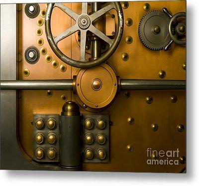 Tumbler Bank Vault Door Metal Print by Adam Crowley