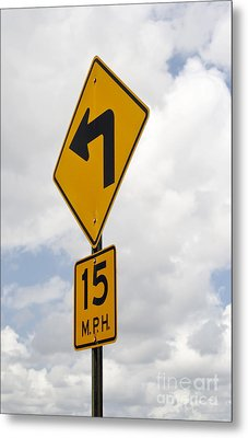 Turn Sign Metal Print by Blink Images