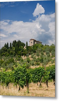 Tuscany Villa In Tuscany Italy Metal Print by Ulrich Schade
