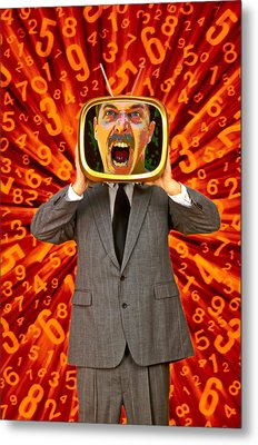 Tv Man Metal Print by Garry Gay