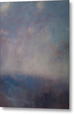 Twilight Mist Over The Arreton Valley Metal Print by Alan Daysh