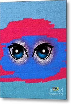 Two Eyes Metal Print by Rod Seeley