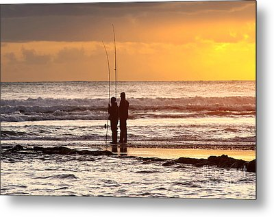 Two Fisherman Metal Print by Carlos Caetano