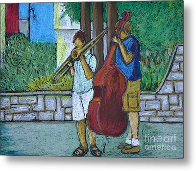 Two Musicians Metal Print by Reb Frost