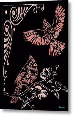 Two Red Cardies Metal Print by Jim Ross