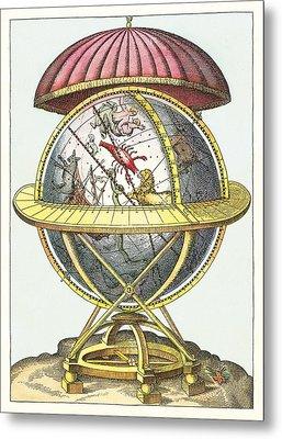 Tycho's Great Brass Globe Metal Print by Detlev Van Ravenswaay
