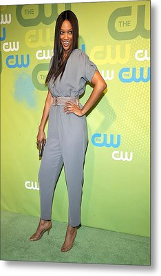 Tyra Banks Wearing A Marley Jumpsuit Metal Print by Everett