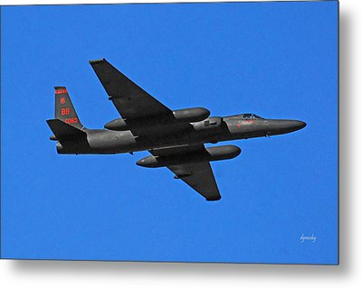 U-2 Flyover 3394 Metal Print by David Mosby