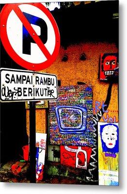 Ubud Art Street  Metal Print by Funkpix Photo Hunter
