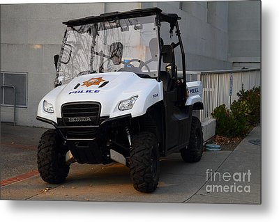 Uc Berkeley Campus Police Buggy  . 7d10184 Metal Print by Wingsdomain Art and Photography