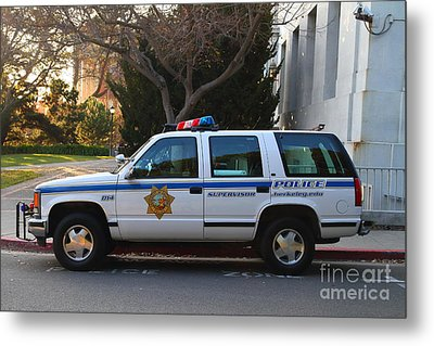 Uc Berkeley Campus Police Suv  . 7d10182 Metal Print by Wingsdomain Art and Photography