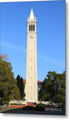 Uc Berkeley . Sather Tower . The Campanile . 7d10050 Metal Print by Wingsdomain Art and Photography