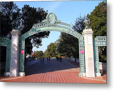 Uc Berkeley . Sproul Plaza . Sather Gate . 7d10033 Metal Print by Wingsdomain Art and Photography