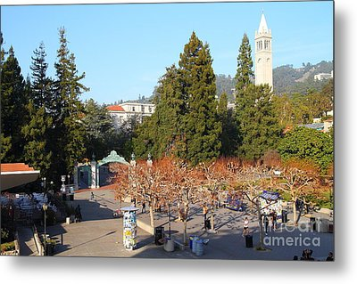 Uc Berkeley . Sproul Plaza . Sather Gate And Sather Tower Campanile . 7d10000 Metal Print by Wingsdomain Art and Photography