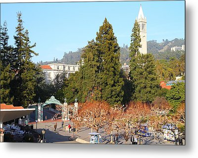 Uc Berkeley . Sproul Plaza . Sather Gate And Sather Tower Campanile . 7d10015 Metal Print by Wingsdomain Art and Photography