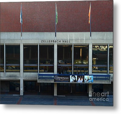 Uc Berkeley . Zellerbach Hall . 7d10013 Metal Print by Wingsdomain Art and Photography