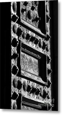 Umayyad Mosque's Gate Metal Print by Issam Hajjar