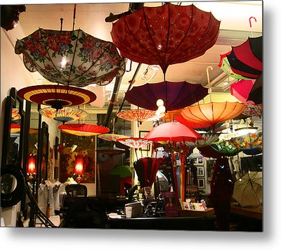 Umbrella Art Metal Print by Kym Backland