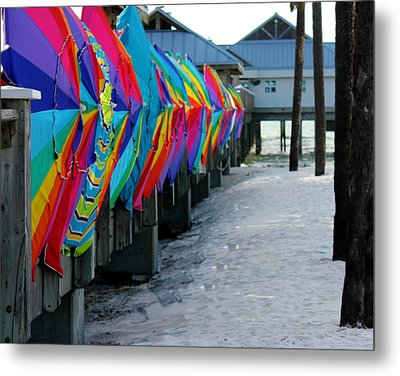 Umbrellas Metal Print by Shweta Singh