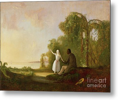 Uncle Tom And Little Eva Metal Print by Robert Scott Duncanson