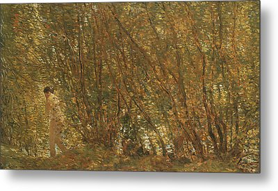 Under The Alders Metal Print by Childe Hassam