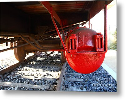 Under The Old Western Pacific Caboose Train . 7d10722 Metal Print by Wingsdomain Art and Photography