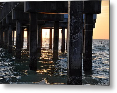 Under The Pier Metal Print by Bill Cannon