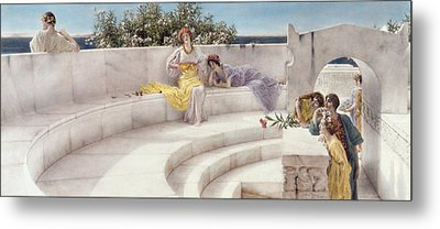 Under The Roof Of Blue Ionian Weather Metal Print by Sir Lawrence Alma-Tadema