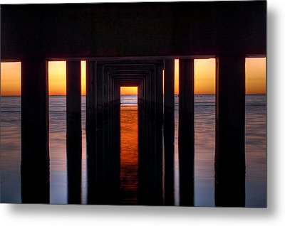 Underside Of The Pier Metal Print by Pixel Perfect by Michael Moore