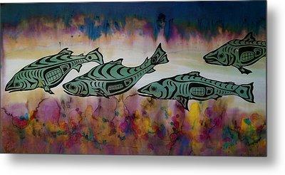 Underwater Color Metal Print by Carolyn Doe
