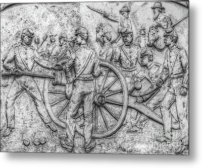 Union Artillery Civil War Drawing Metal Print by Randy Steele