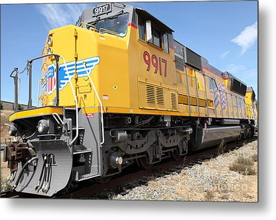 Union Pacific Locomotive Train - 5d18643 Metal Print by Wingsdomain Art and Photography