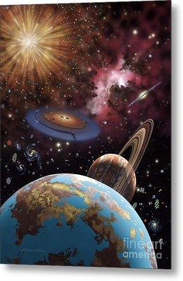 Universe II Metal Print by Lynette Cook