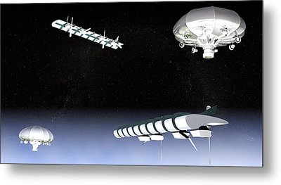Unmanned High Altitude Aircraft, Artwork Metal Print by Christian Darkin