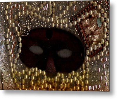 Unmask You Masquerades Dont Last Forever Metal Print by Pepita Selles
