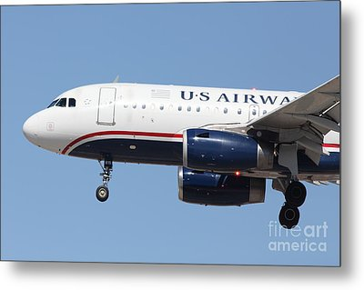 Us Airways Jet Airplane  - 5d18394 Metal Print by Wingsdomain Art and Photography