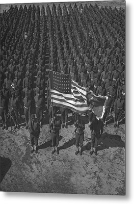 U.s. Army 41st Engineers On Parade Metal Print by Everett