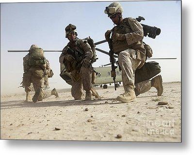 U.s. Marines Unloading Metal Print by Stocktrek Images