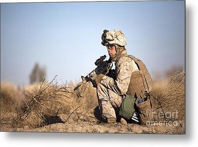 U.s. Navy Soldier Participates Metal Print by Stocktrek Images