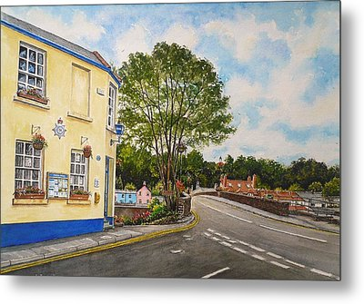 Usk Police Station  Metal Print by Andrew Read