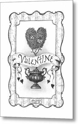 Valentine Metal Print by Adam Zebediah Joseph