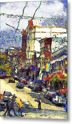 Van Gogh Takes The Right Turn And Rediscovers The Castro In San Francisco . 7d7572 Metal Print by Wingsdomain Art and Photography