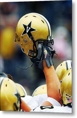 Vanderbilt Commodore Helmet  Metal Print by Vanderbilt University